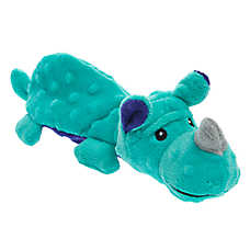 Top Paw® TUFF with Bite Shield™ Protection Rhino Dog Toy - Plush, Squeaker