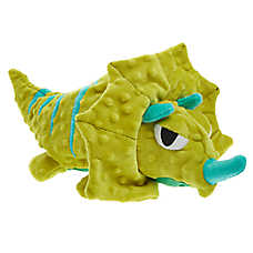 Top Paw® TUFF with Bite Shield™ Protection Triceratops Dog Toy - Plush, Squeaker