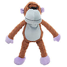 Top Paw® TUFF with Bite Shield™ Protection Monkey Dog Toy - Plush, Squeaker