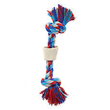 Top Paw® Knotted Rope + Chew Bone Dog Toy