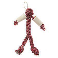 Top Paw® Sitck Man Rope + Chew Bone Dog Toy
