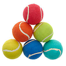 Grreat Choice® Tennis Ball Dog Toys - 6 Pack
