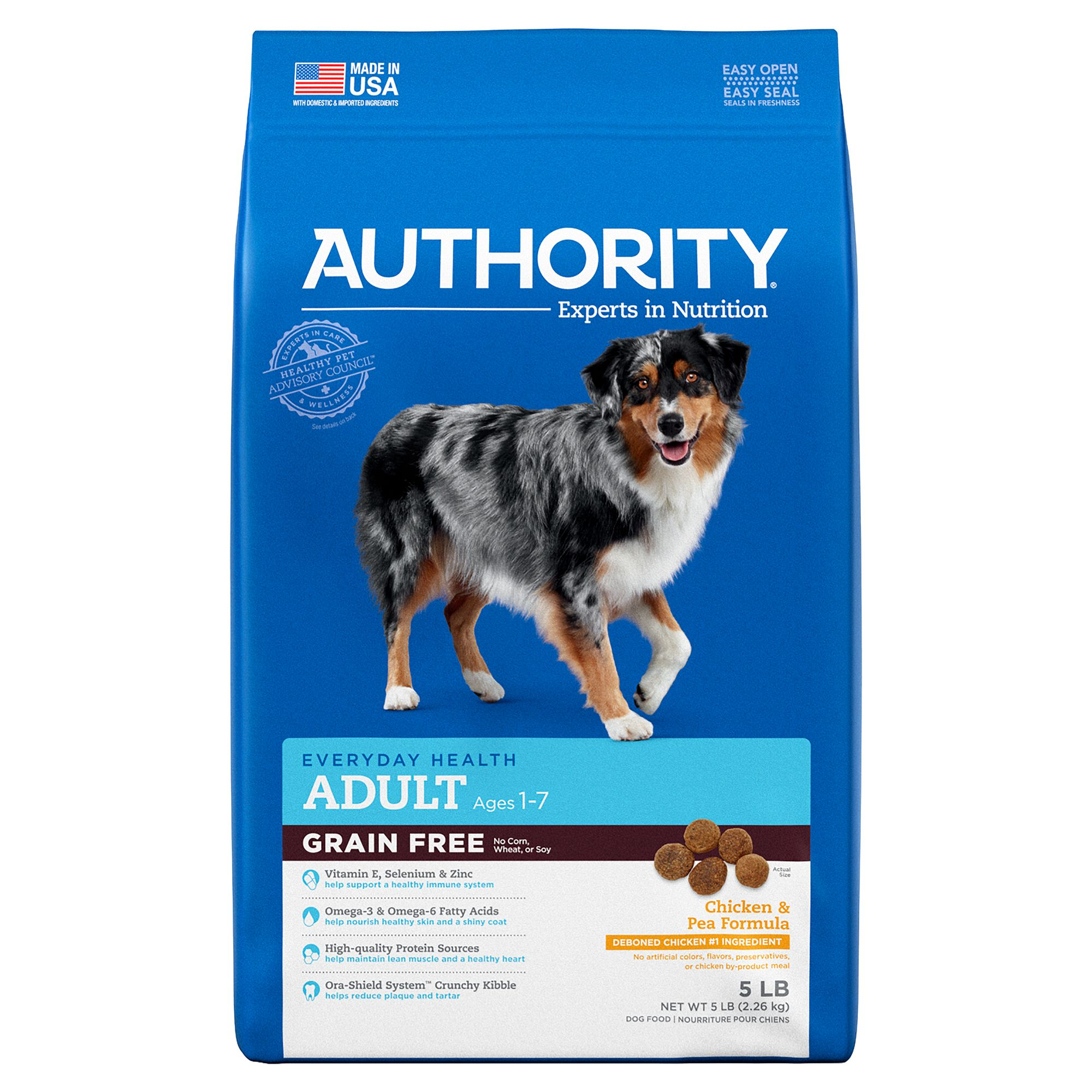 Free Adult Photos authority® grain free adult dog food - chicken & pea
