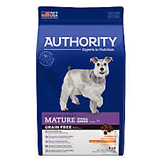 Authority® Small Breed Mature Adult Dog Food - Grain Free , Chicken & Pea