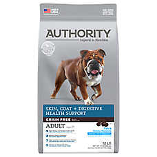 Authority® Skin, Coat + Digestive Health Support Adult Dog Food - Grain Free, Fish & Potato