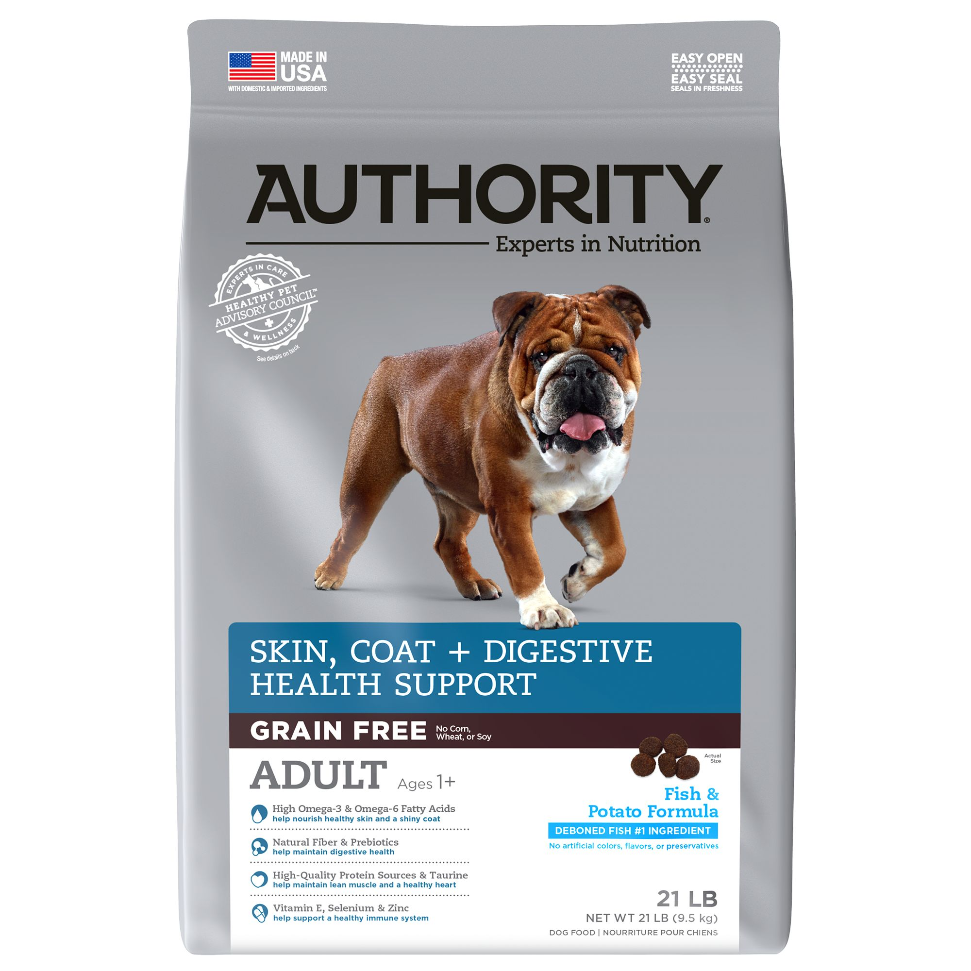 Authority Skin, Coat + Digestive Health Support Adult Dog Food