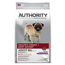 Authority® Healthy Weight + Joint Support Small Breed Adult Dog Food - Turkey & Chickpea