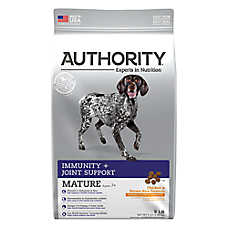 Authority® Immunity + Joint Support Mature Adult Dog Food - Chicken & Brown Rice