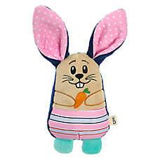 ED Ellen DeGeneres Stripe Bunny Dog Toy - Plush, Squeaker