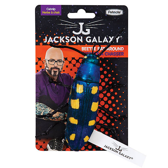 Jackson galaxy beetle bat around cat toy cat plush toys for Jackson galaxy petsmart