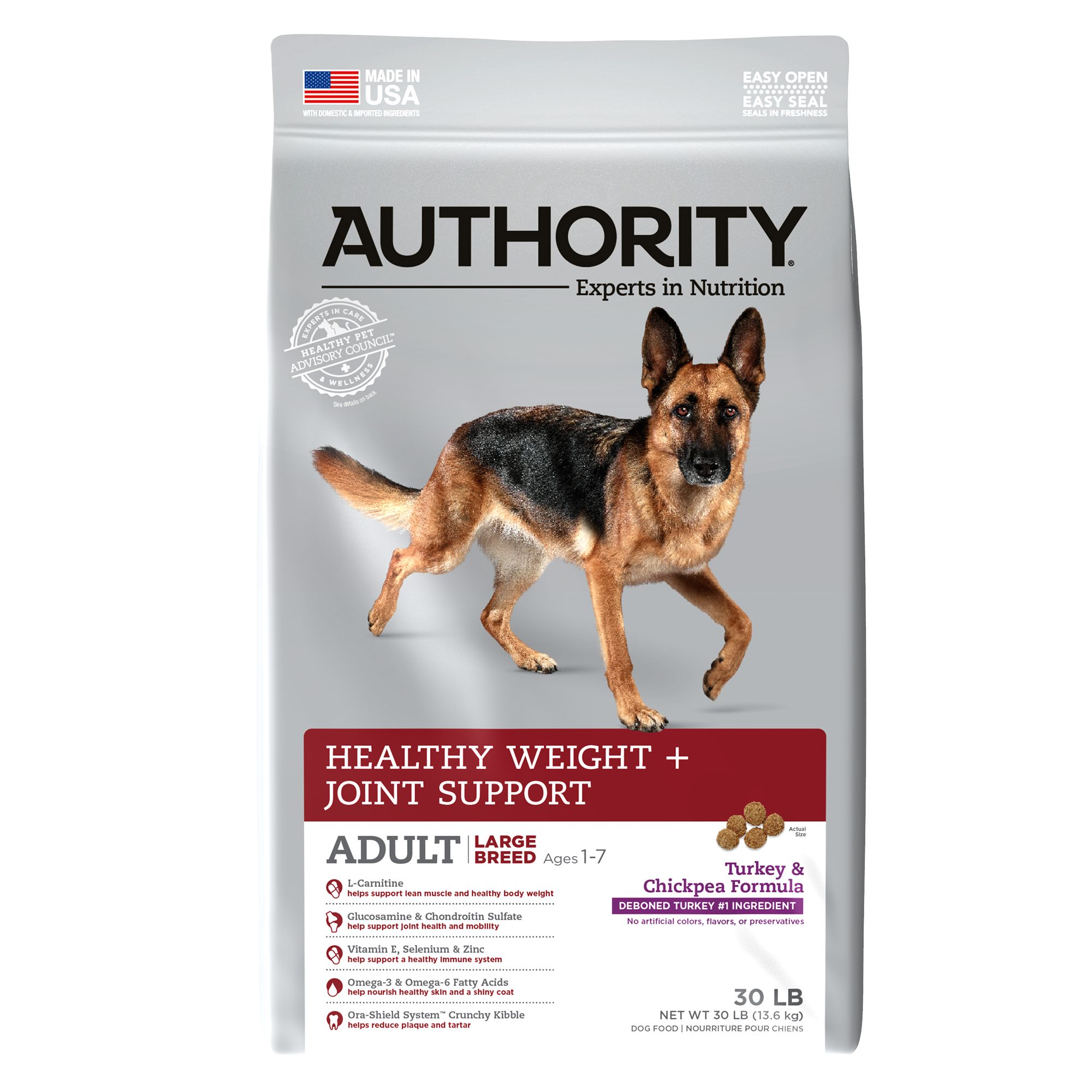 Authority® Healthy Weight + Joint Support Large Breed Adult Dog Food