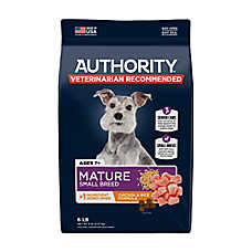 Authority® Small Breed Mature Adult Dog Food - Chicken & Rice