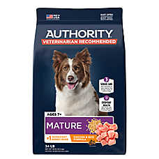 Authority® Mature Adult Dog Food - Chicken & Rice