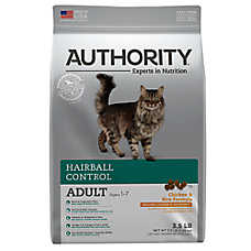Authority® Hairball Control Adult Cat Food - Chicken & Rice