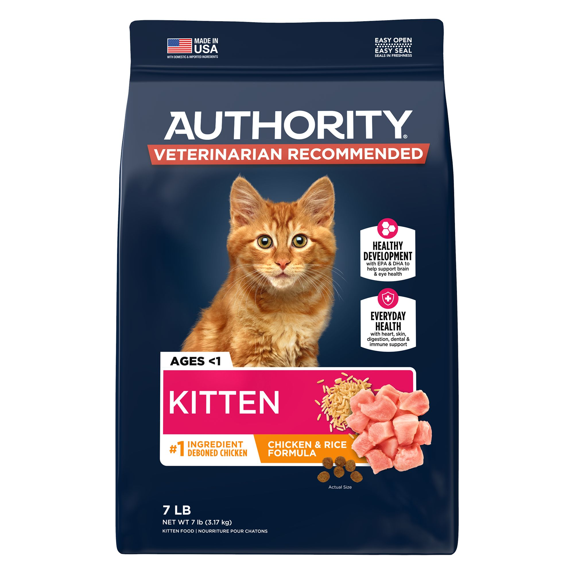 Authority Kitten Food Chicken Rice Cat Dry Food Petsmart