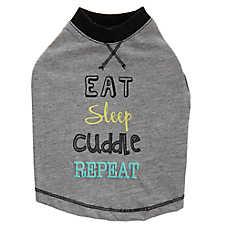 """Top Paw® """"Eat, Sleep, Cuddle, Repeat"""" Pet Tee"""