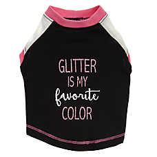 "Top Paw® ""Glitter is My Favorite Color"" Pet Tee"