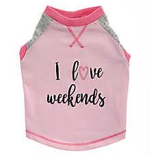 "Top Paw® ""I Love Weekends"" Pet Tee"