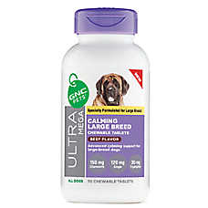GNC Pets® Ultra Mega Calming Chewable Dog Tablets for Large Breed - Beef