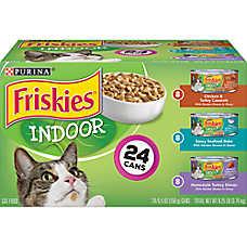 Purina® Friskies® Indoor Cuts in Gravy Wet Cat Food Variety Pack, 24 ct