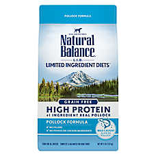Natural Balance Limited Ingredient Diet Dog Food - Grain Free, High Protein, Pollock
