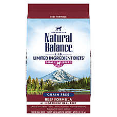 Natural Balance Limited Ingredient Small Breed Bites Dog Food - Grain Free, High Protein, Beef