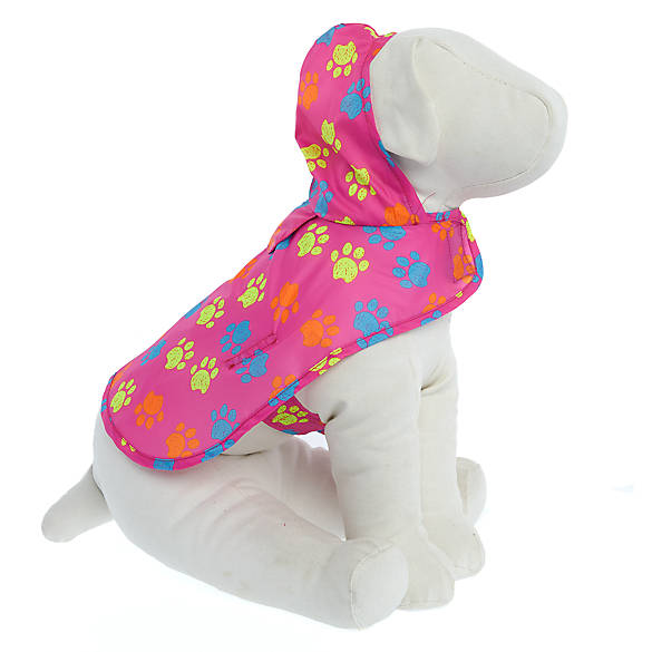 Top Paw Paw Print Packable Pet Raincoat Dog Sweaters Coats