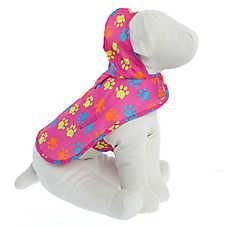 Top Paw® Paw Print Packable Pet Raincoat