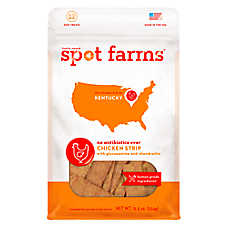 Spot Farms Chicken Strips Dog Treats - Human Grade, Glucosamine & Chondrotin