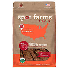 Spot Farms (R) Whole Grain Organic Tenders Dog Treats - Human Grade