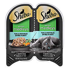 Sheba® Perfect Portions Garden Medleys Tuna & Vegetables Pate Cat Food