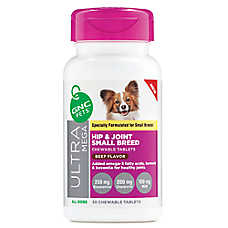 GNC Pets® Ultra Mega Hip & Joint Dog Chewable Tablets Small Breed - Beef
