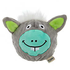ED Ellen DeGeneres Donkey Ball Dog Toy - Plush, Squeaker