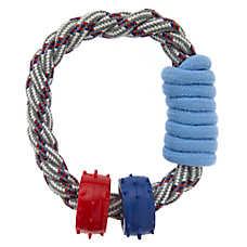 ED Ellen DeGeneres Rope & Rings Dog Toy