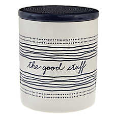 "ED Ellen DeGeneres ""The Good Stuff"" Ceramic Pet Treat Jar"