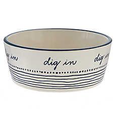 """ED Ellen DeGeneres """"Dig-In"""" Ceramic Dog Bowl"""