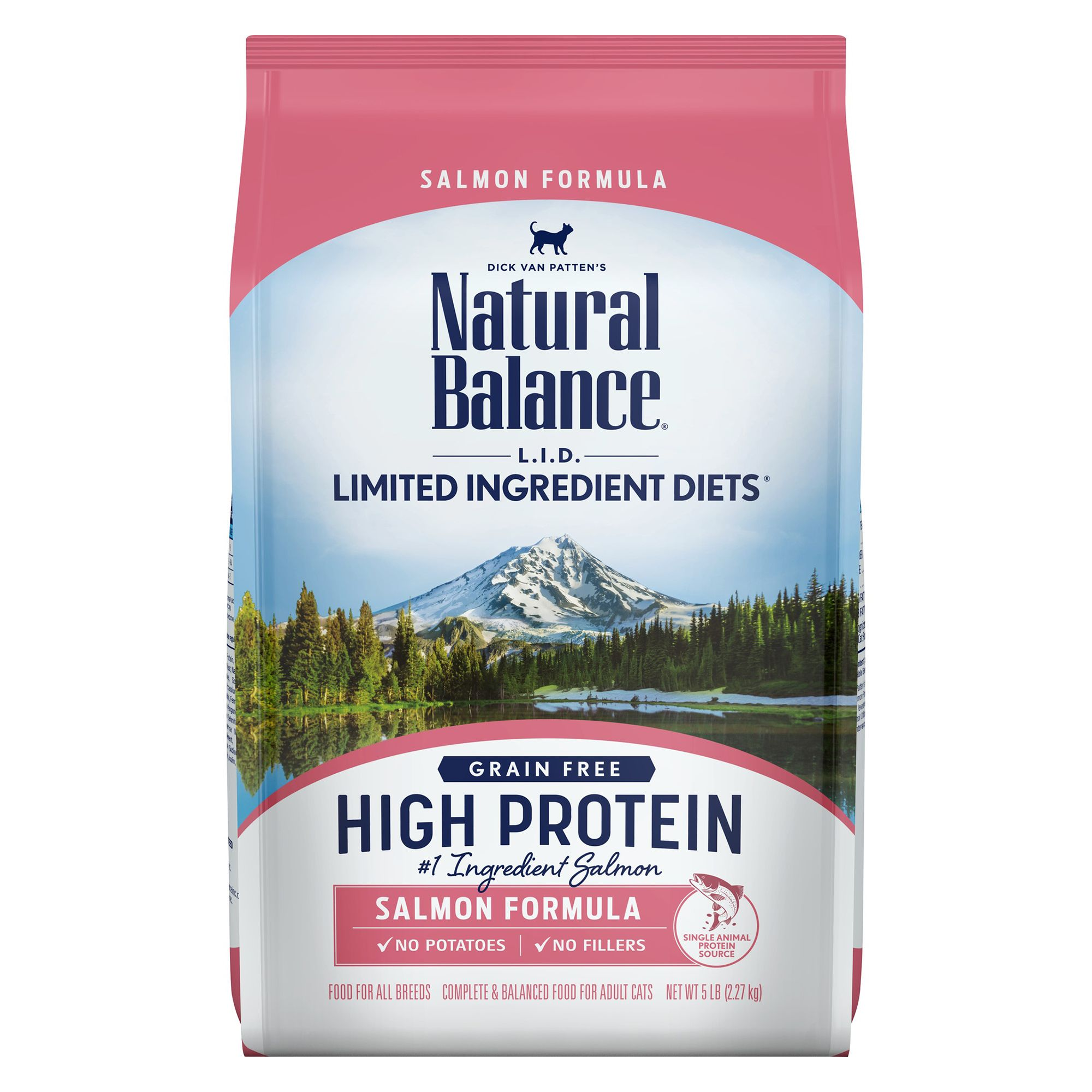 Natural Balance Limited Ingredient Diets Cat Food - Grain Free, High Protein, Salmon 5lb
