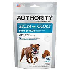 Authority® Skin + Coat Adult Soft Dog Chews