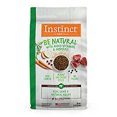 Nature's Variety® Instinct® Be Natural ™ Dog Food - Natural, Raw, Lamb & Oatmeal