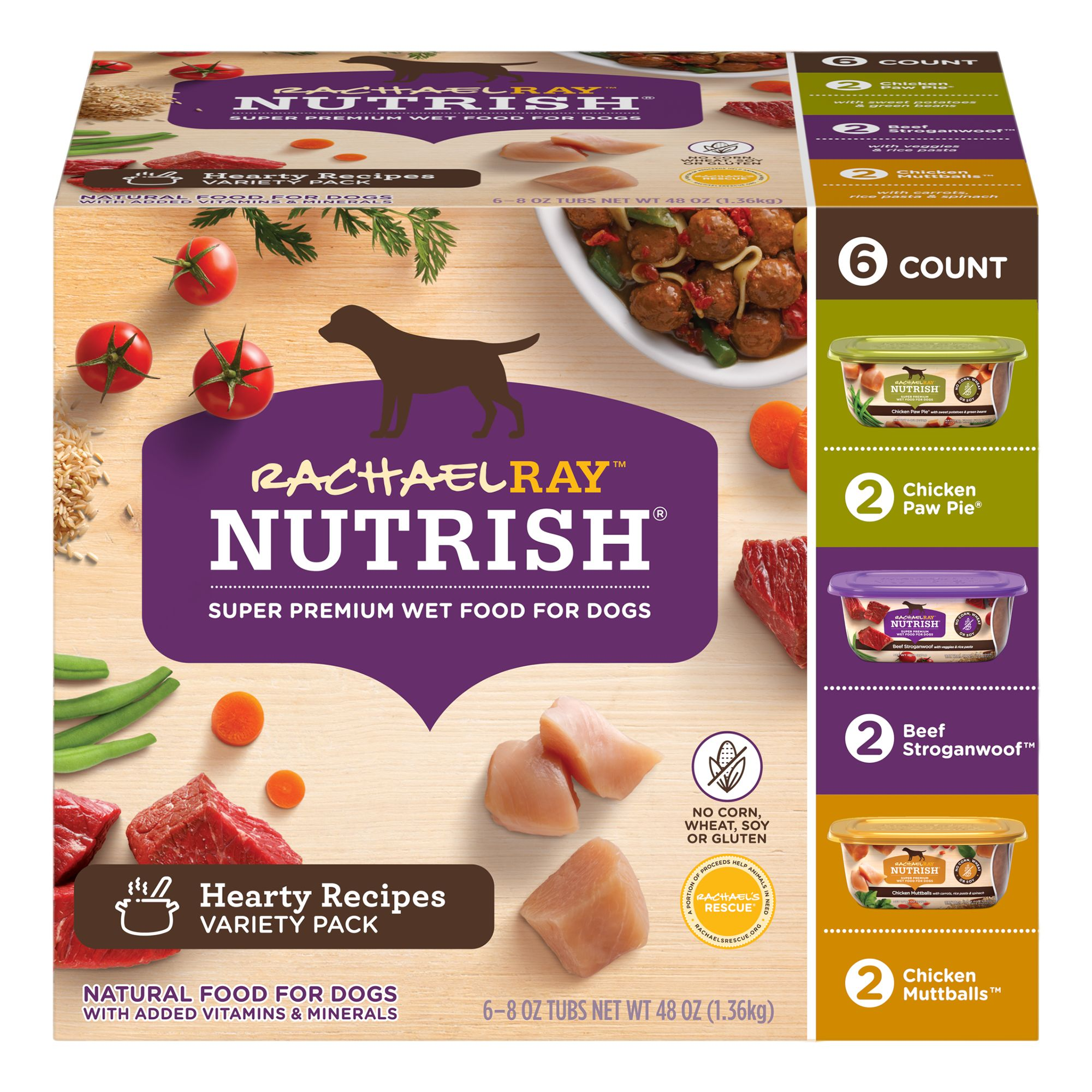 Rachael Ray Nutrish Wet Dog Food Dog Food Natural Hearty Recipes Variety Pack