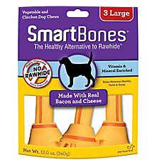 SmartBones® Rawhide Alternative - Vegatable & Chicken CHew Bone, Bacon and Cheese
