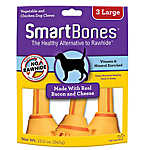 SmartBones® Rawhide Alternative - Vegatable & Chicken CHew Bone, Bacon and Cheese