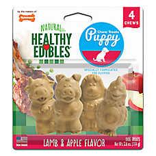 Nylabone® Healthy Edibles® Natural Puppy Chew Treats - Lamb & Apple