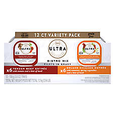 Nutro Ultra™ Bistro Mix Filet in Gravy Variety Pack Wet Dog Food - Grain Freen, Beef & Chicken