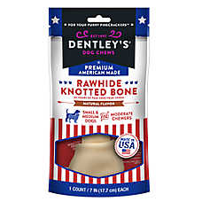 Dentley's® Premium American Made Rawhide Knotted Bone Dog Treat
