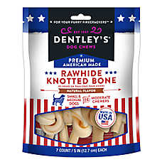 Dentley's® Premium American Made Rawhide Knotted Bone Dog Treats