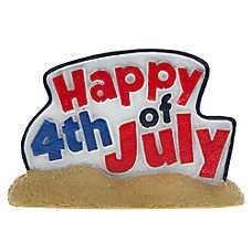 """Top Fin® """"Happy 4th of July"""" Aquarium Ornament"""