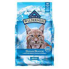 BLUE Wilderness® Denali Dinner® Adult Cat Food - Grain Free, Wild Salmon, Venison & Halibut