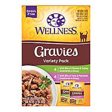 Wellness® Gravies Adult Cat Food - Grain Free, Variety Pack