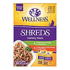 Wellness® Shreds Adult Cat Food - Grain Free, Variety Pack